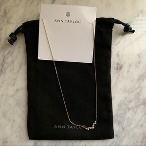 🆕 NWT ✨Ann Taylor Dainty Crystal Necklace 🎁✨